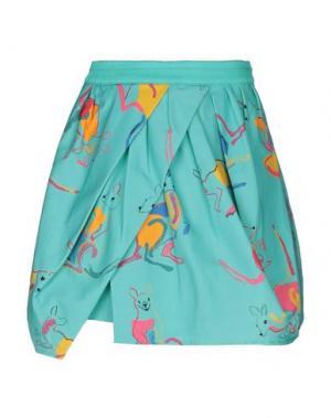 Мини-юбка EGGS. Цвет: бирюзовый