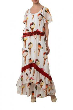 Комплект: платье и туника Adzhedo. Цвет: молочный, мороженое