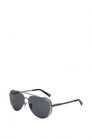 Очки солнцезащитные Chopard. Цвет: черный