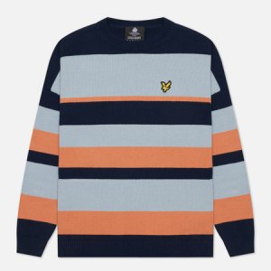 Женский свитер Stripe Jumper Lyle & Scott. Цвет: голубой