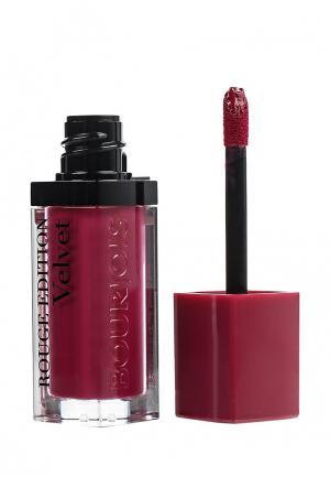 Помада Bourjois Rouge Edition Velvet, 14 Plum Girl, 7,7 мл. Цвет: бордовый