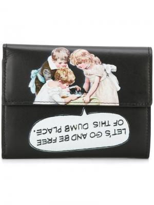 Бумажник с принтом kitten Undercover. Цвет: черный