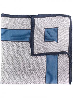 Платок 1970-х годов с геометричным принтом Pierre Cardin Pre-Owned. Цвет: синий