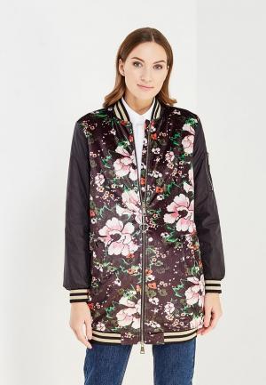 Куртка утепленная Fornarina FO019EWXQA74. Цвет: черный