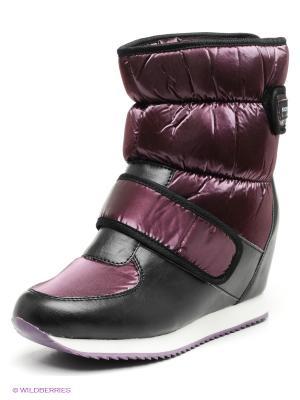 Дутики BOOMBOOTS. Цвет: фиолетовый, черный