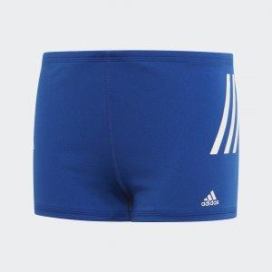 Плавки-боксеры Pro 3-Stripes Performance adidas. Цвет: белый