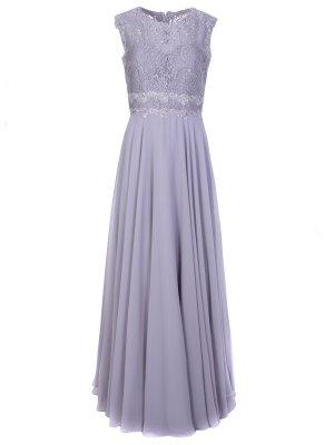 Платье в пол с кружевом FOREVER UNIQUE