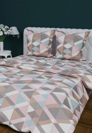 Постельное белье 2-спальное Текстильная лавка. Цвет: разноцветный