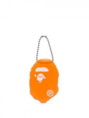 Кошелек для монет с графичным принтом A BATHING APE®. Цвет: оранжевый