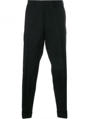 Костюмные брюки с отделкой лентой Dries Van Noten. Цвет: чёрный
