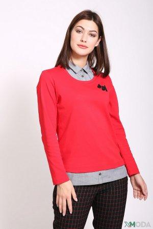 Пуловер Rabe collection. Цвет: красный