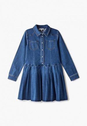 Платье джинсовое Twinset Milano. Цвет: синий