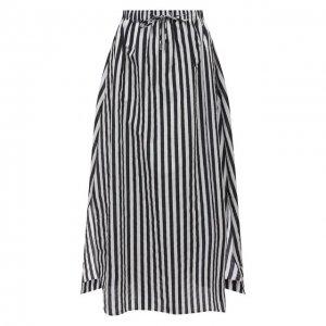 Хлопковая юбка Max Mara. Цвет: чёрно-белый