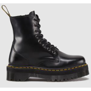 Сапоги из кожи на шнуровке Jadon DR MARTENS. Цвет: черный