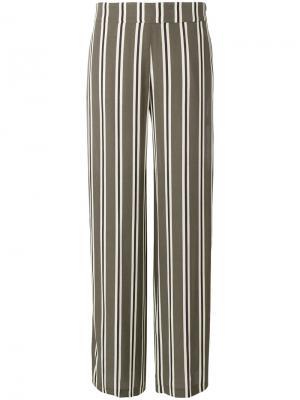 Широкие брюки в полоску Libertine-Libertine. Цвет: зелёный