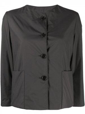 Укороченная куртка на пуговицах Aspesi. Цвет: серый