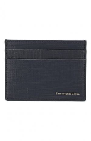 Кожаный футляр для кредитных карт Ermenegildo Zegna. Цвет: синий