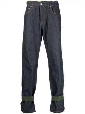 Прямые джинсы средней посадки A.P.C.. Цвет: синий