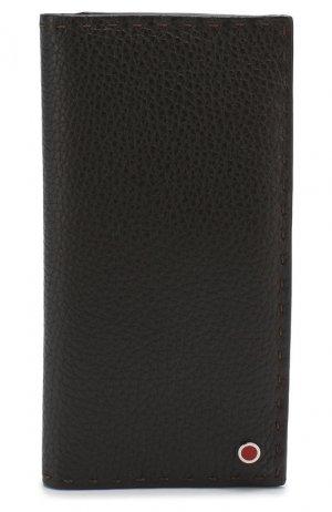 Кожаное портмоне Kiton. Цвет: коричневый