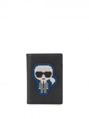 Обложка для паспорта K/Pixel Karl Lagerfeld. Цвет: черный