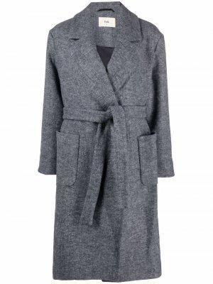 Пальто с поясом Folk. Цвет: серый