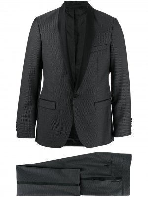 Костюм-двойка с атласной отделкой Karl Lagerfeld. Цвет: черный