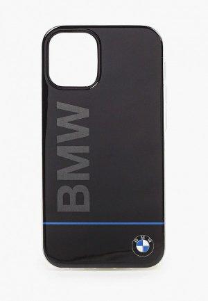Чехол для iPhone BMW 12 mini (5.4), Signature PC/TPU Blue line Printed logo Black. Цвет: черный