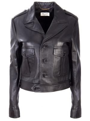 Кожаная куртка YSL