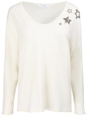 Шерстяной пуловер Gerard Darel. Цвет: бежевый