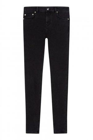 Зауженные джинсы цвета антрацит Maje. Цвет: черный