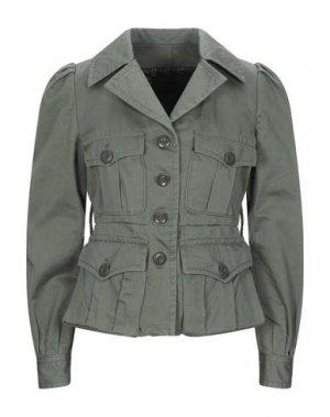 Куртка MARC JACOBS. Цвет: зеленый-милитари