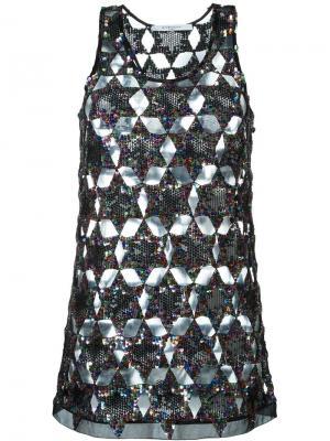 Майка с пайетками Givenchy. Цвет: чёрный