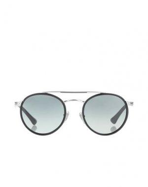 Солнечные очки PERSOL. Цвет: серебристый