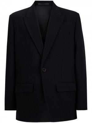 Однобортный пиджак строгого кроя Valentino. Цвет: черный
