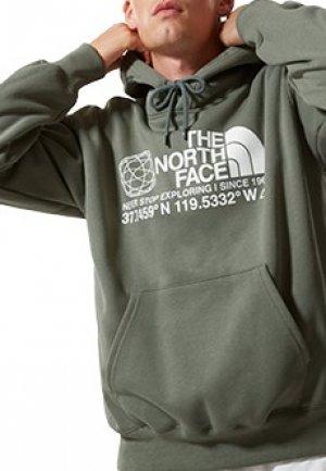 Толстовка THE NORTH FACE. Цвет: зеленый