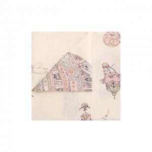 Одеяло из кашемира и шерсти Atelier Choux. Цвет: белый