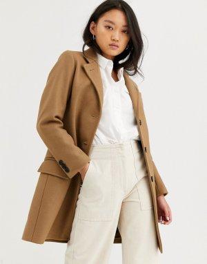 Строгое пальто с добавлением шерсти Gloverall