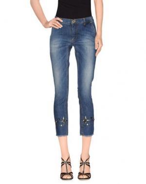 Джинсовые брюки-капри GLAM CRISTINAEFFE. Цвет: синий