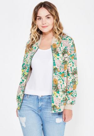 Куртка Violeta by Mango - AFRICA. Цвет: зеленый