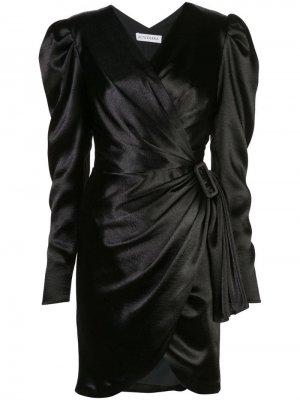Платье Annette асимметричного кроя с пряжкой Altuzarra. Цвет: черный