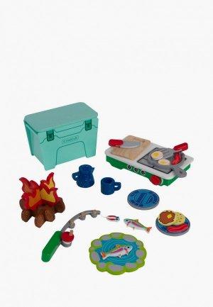 Набор игровой KidKraft Деревянная кухня  Пикник, 27 предметов посуды и аксессуаров в наборе. Цвет: разноцветный
