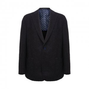 Пиджак из кашемира и шерсти Zilli. Цвет: синий