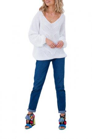 Пуловер FOBYA. Цвет: белый