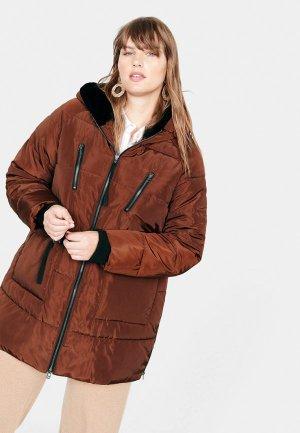 Куртка утепленная Violeta by Mango WOOD5. Цвет: коричневый