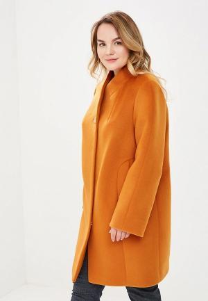 Пальто Симпатика MP002XW13SND. Цвет: оранжевый