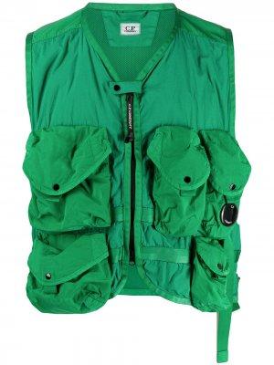 Жилет с сетчатой подкладкой C.P. Company. Цвет: зеленый
