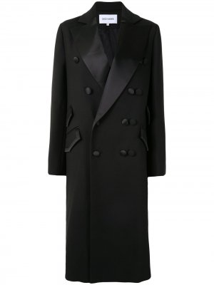 Двубортное пальто Dice Kayek. Цвет: черный