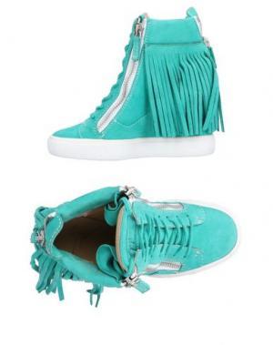 Высокие кеды и кроссовки GIUSEPPE ZANOTTI. Цвет: зеленый