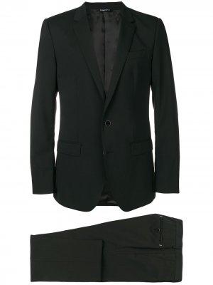 Классический костюм-двойка Dolce & Gabbana. Цвет: черный