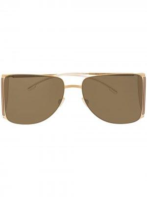 Солнцезащитные очки из коллаборации с Helmut Lang Mykita. Цвет: золотистый